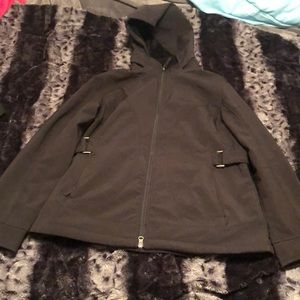 Black Jacket Raincoat Free Country